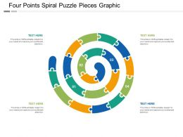 Four Points Spiral Puzzle Pieces Graphic