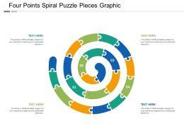 Four Points Spiral Puzzle Pieces Graphic