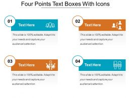 Four Points Text Boxes With Icons