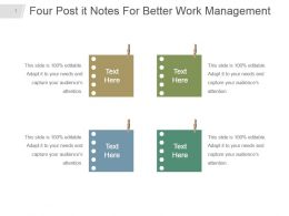 Four Post It Notes For Better Work Management Powerpoint Design