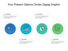 Four Present Options Circles Zigzag Graphic