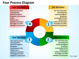four process diagram powerpoint templates graphics slides 0712