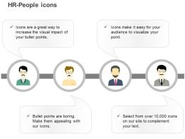 Four Professional Team Business Ppt Icons Graphics