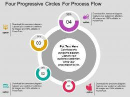 Four Progressive Circles For Process Flow Flat Powerpoint Design