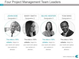 Four Project Management Team Leaders Presentation Slide