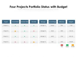 Four Projects Portfolio Status With Budget