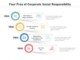 Four Pros Of Corporate Social Responsibility