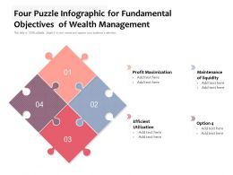 Four Puzzle Infographic For Fundamental Objectives Of Wealth Management
