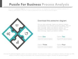 Four Puzzles For Business Process Analysis Flat Powerpoint Design