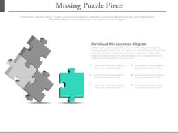 Four Puzzles For Business Solution Analysis Powerpoint Slides