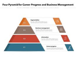 Four Pyramid For Career Progress And Business Management