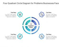 Four Quadrant Circle Diagram For Problems Businesses Face Infographic Template