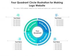 Four Quadrant Circle Illustration For Making Logo Website Infographic Template