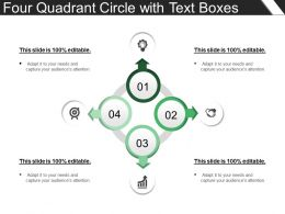 Four Quadrant Circle With Text Boxes