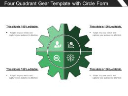 Four Quadrant Gear Template With Circle Form