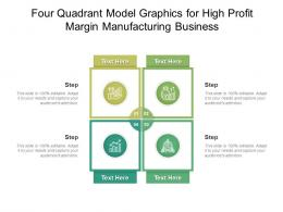 Four Quadrant Model Graphics For High Profit Margin Manufacturing Business Infographic Template