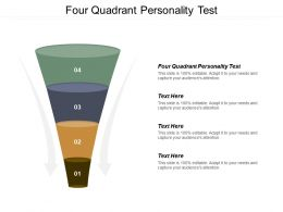 Four Quadrant Personality Test Ppt Powerpoint Presentation File Graphic Images Cpb