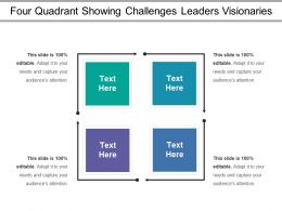 Four Quadrant Showing Challenges Leaders Visionaries