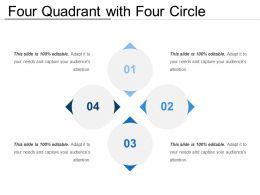 Four Quadrant With Four Circle