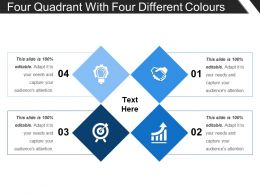 Four Quadrant With Four Different Colors