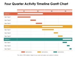 Four Quarter Activity Timeline Gantt Chart Ppt Powerpoint Presentation Infographic