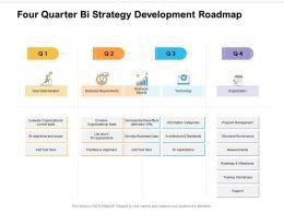 Four Quarter Bi Strategy Development Roadmap