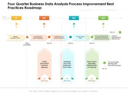 Four Quarter Business Data Analysis Process Improvement Best Practices Roadmap