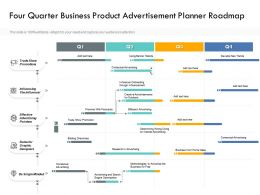 Four Quarter Business Product Advertisement Planner Roadmap