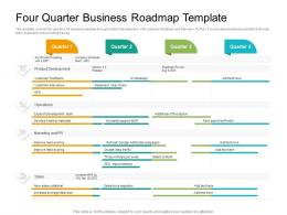 Four Quarter Business Roadmap Timeline Powerpoint Template