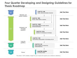 Four Quarter Developing And Designing Guidelines For Thesis Roadmap