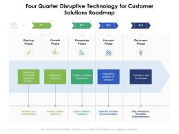 Four Quarter Disruptive Technology For Customer Solutions Roadmap