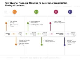 Four Quarter Financial Planning To Determine Organization Strategy Roadmap
