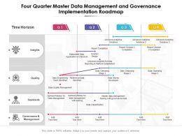 Four Quarter Master Data Management And Governance Implementation Roadmap