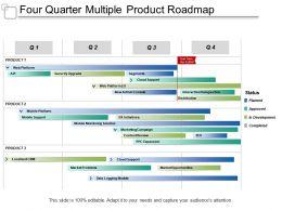 Four Quarter Multiple Product Roadmap