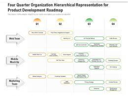 Four Quarter Organization Hierarchical Representation For Product Development Roadmap