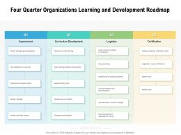 Four Quarter Organizations Learning And Development Roadmap
