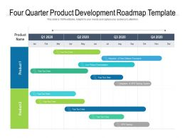 Four Quarter Product Development Roadmap Template