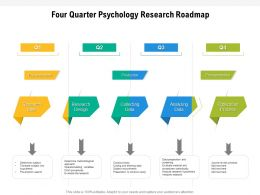 Four Quarter Psychology Research Roadmap
