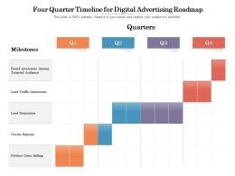Four Quarter Timeline For Digital Advertising Roadmap