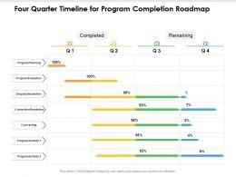 Four Quarter Timeline For Program Completion Roadmap