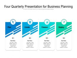 Four Quarterly Presentation For Business Planning