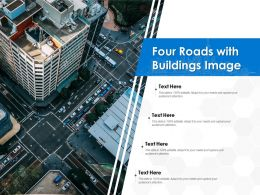 Four Roads With Buildings Image