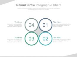 Four Round Circle Infographics Chart Flat Powerpoint Design