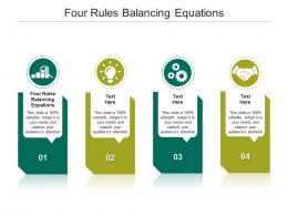 Four Rules Balancing Equations Ppt Powerpoint Presentation Gallery Display Cpb