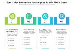 Four Sales Promotion Techniques To Win More Deals