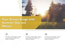 Four Season Image With Summer Day And Nature