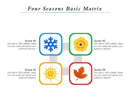 Four Seasons Basic Matrix Infographic Template