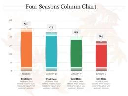 Four Seasons Column Chart Infographic Template