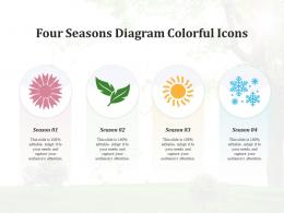 Four Seasons Diagram Colorful Icons Infographic Template
