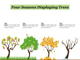 Four Seasons Displaying Trees